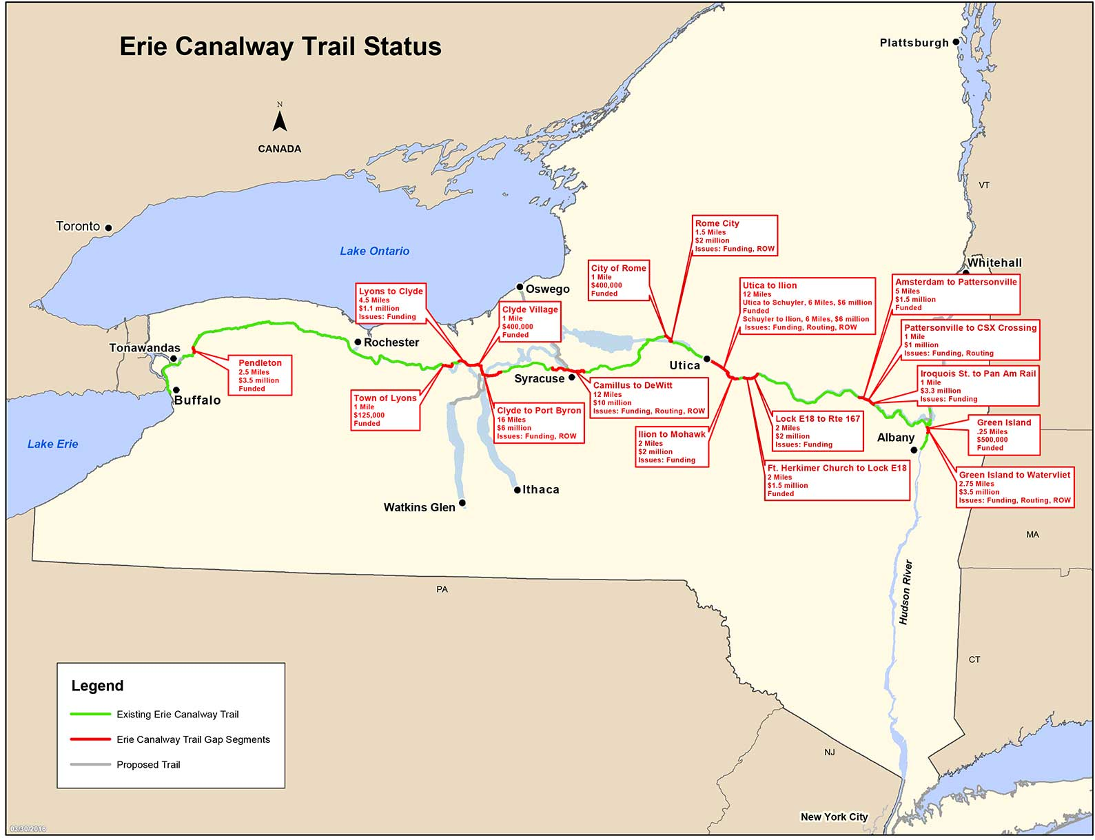 Parks & Trails New York :: Close the Gaps - Statewide Trail Network